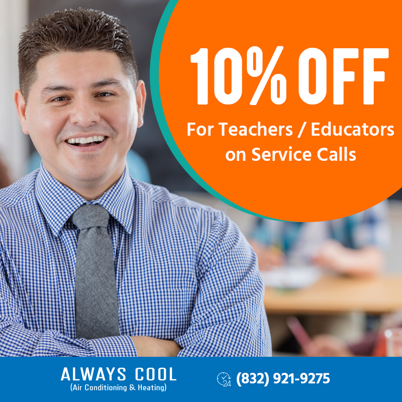 10% Off For Teachers And Educators On Service Call